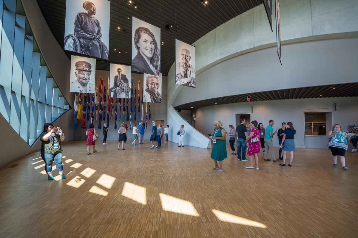 Veteran images at the National Veterans Memorial and Museum in Columbus, Ohio