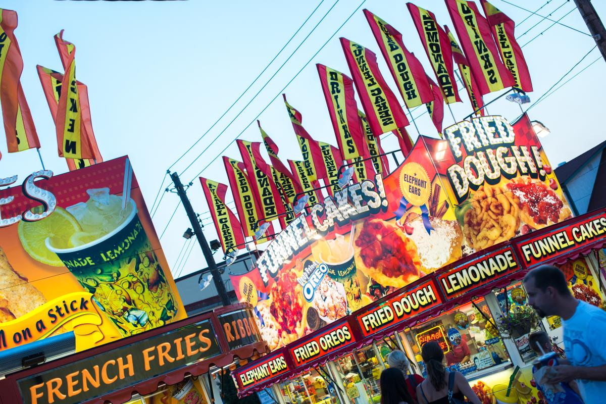 Fried food vendors at the Great Allentown Fair