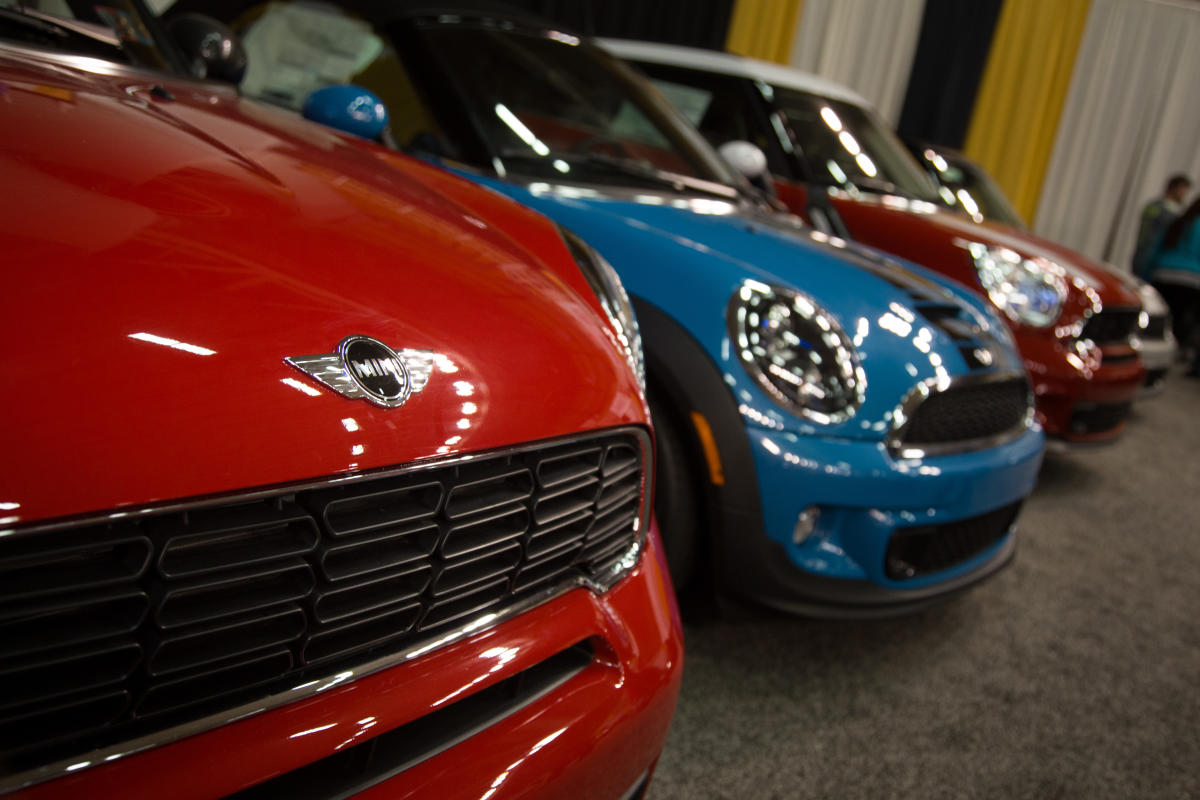 Mini coopers at Lehigh Valley Auto Show