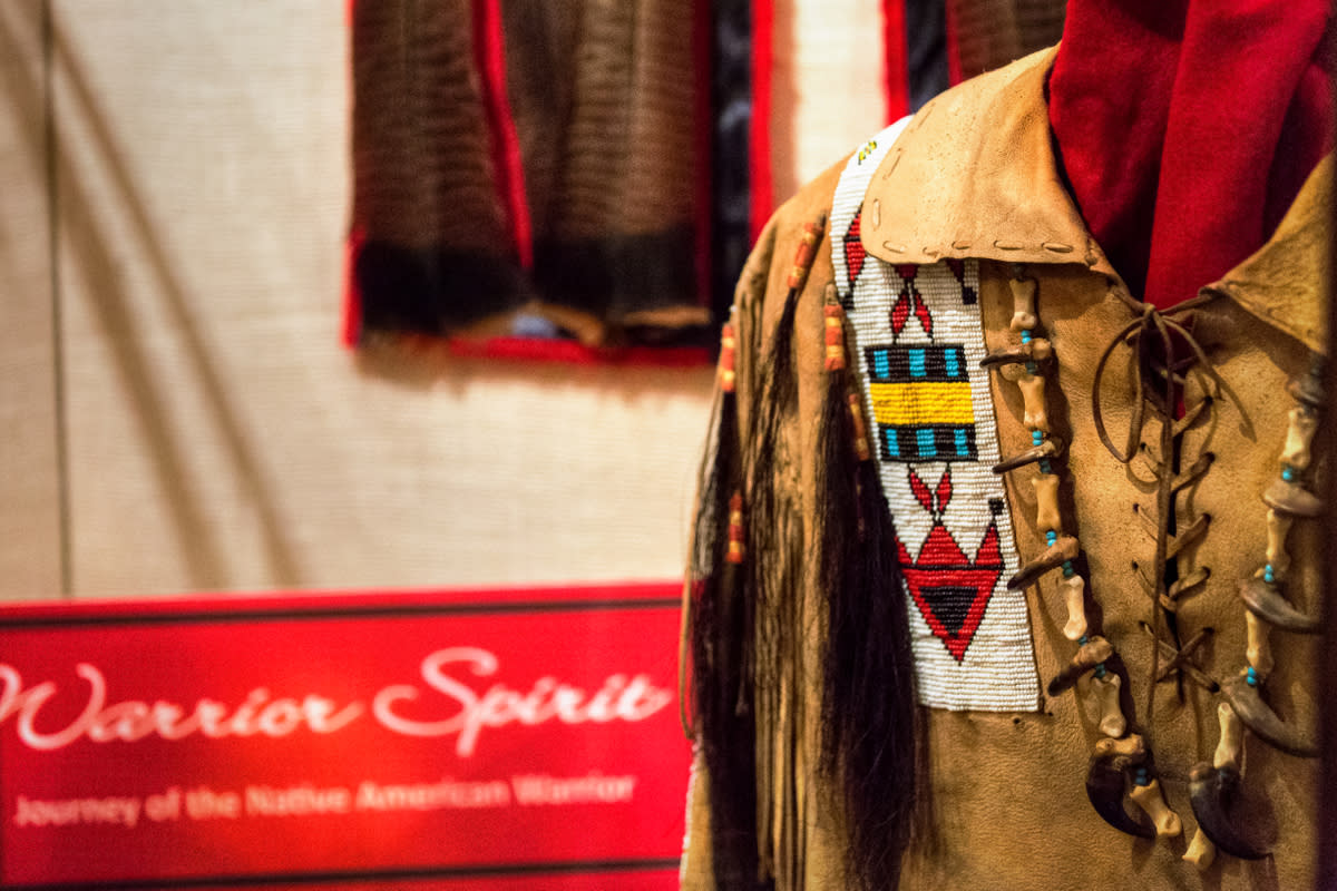 An exhibit of Native American dress at the Museum of Indian Culture