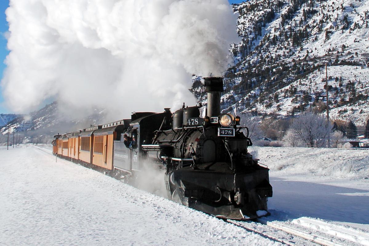 Durango Train During Winter