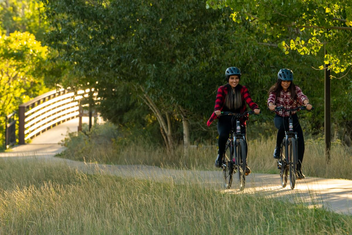 Biking on the Animas River Trail