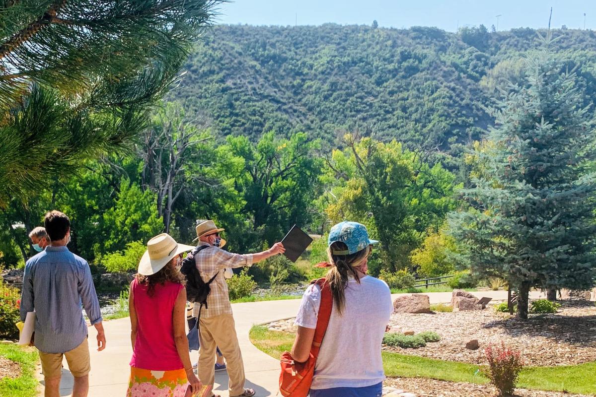 Volunteers at the Durango Botanic Garden