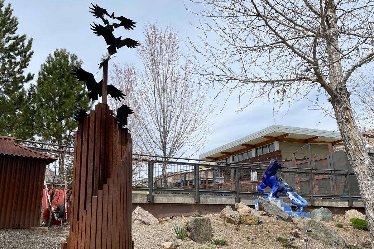 Sculpture Art at the Durango Botanic Gardens