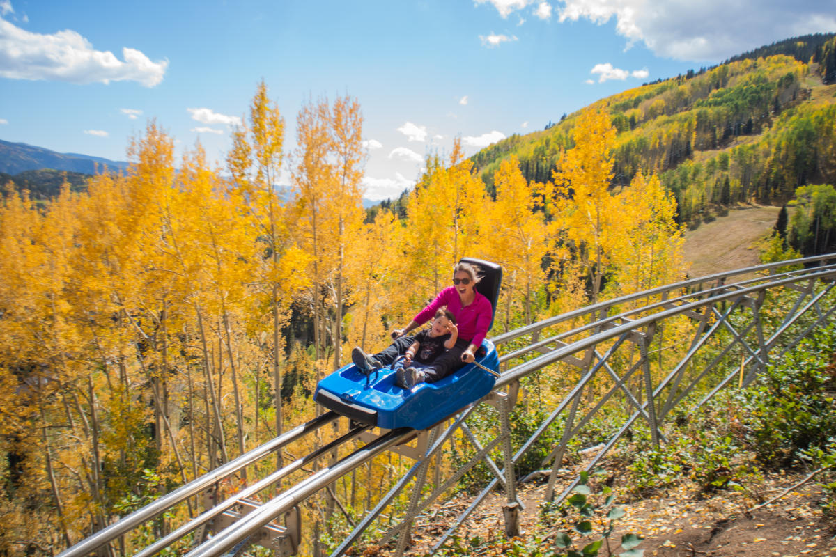 Inferno Mountain Coaster at Purgatory Resort in Fall