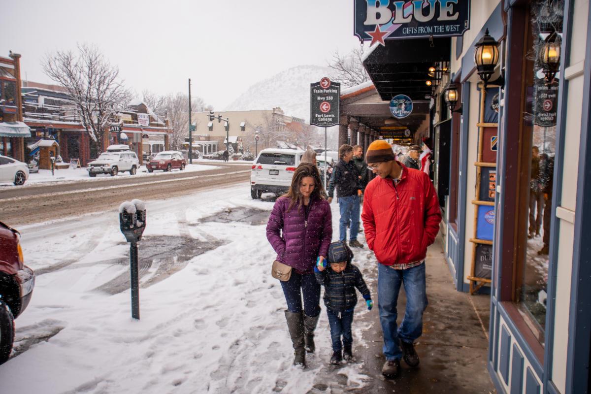Winter Shopping in Downtown Durango