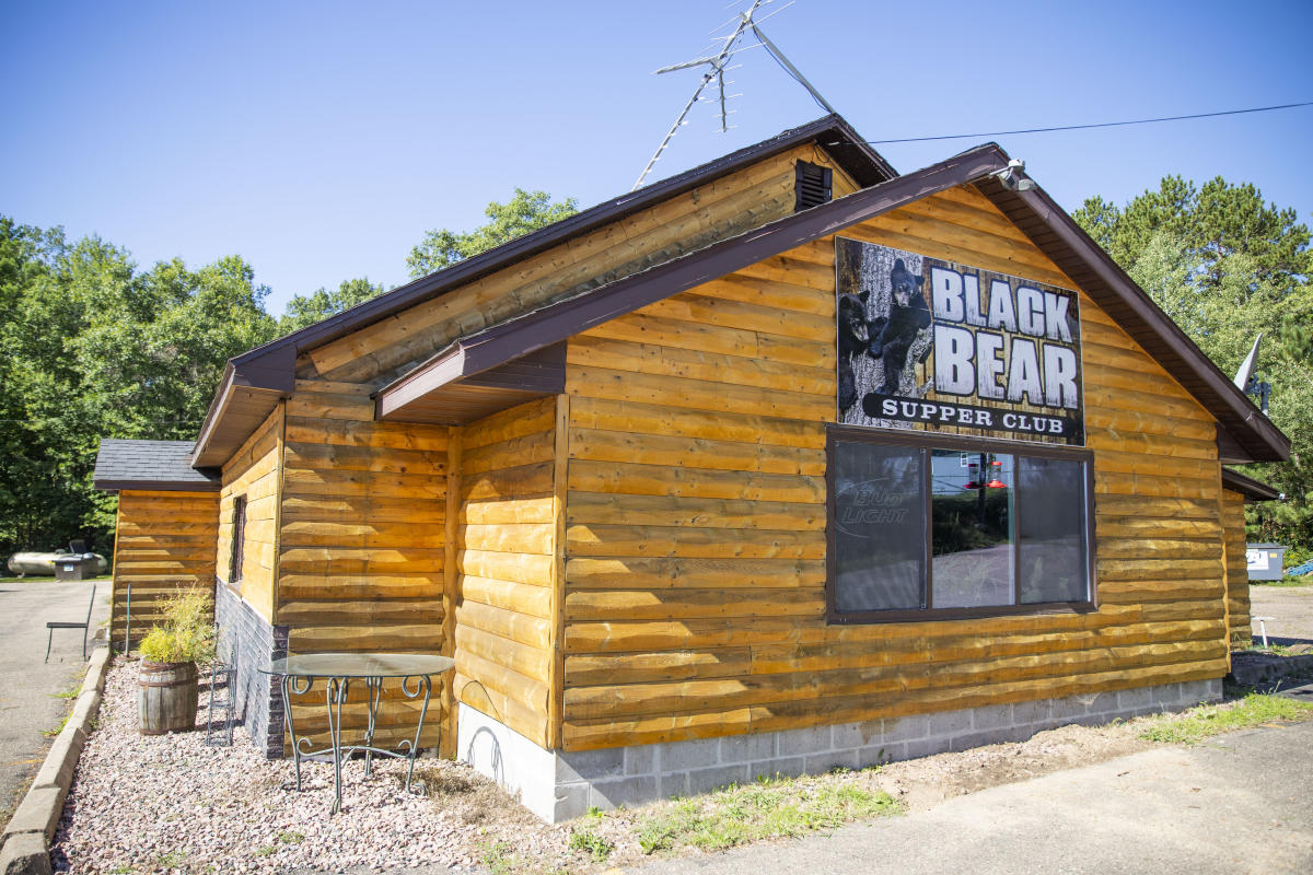 The exterior of Black Bear Bar & Grill in Augusta, WI