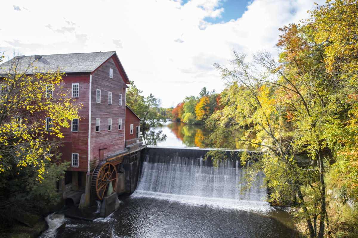 Dells Mill in Augusta during the fall