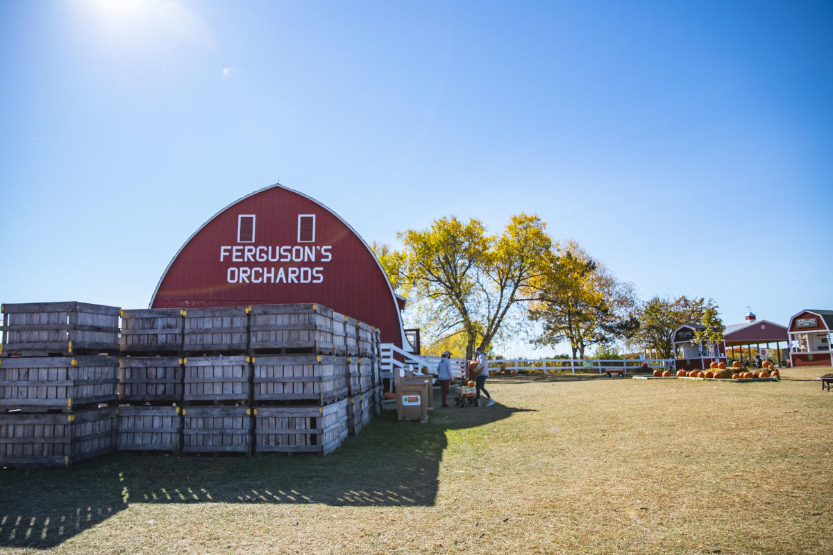 Exterior of the barn and entrance to Ferguson's Orchards