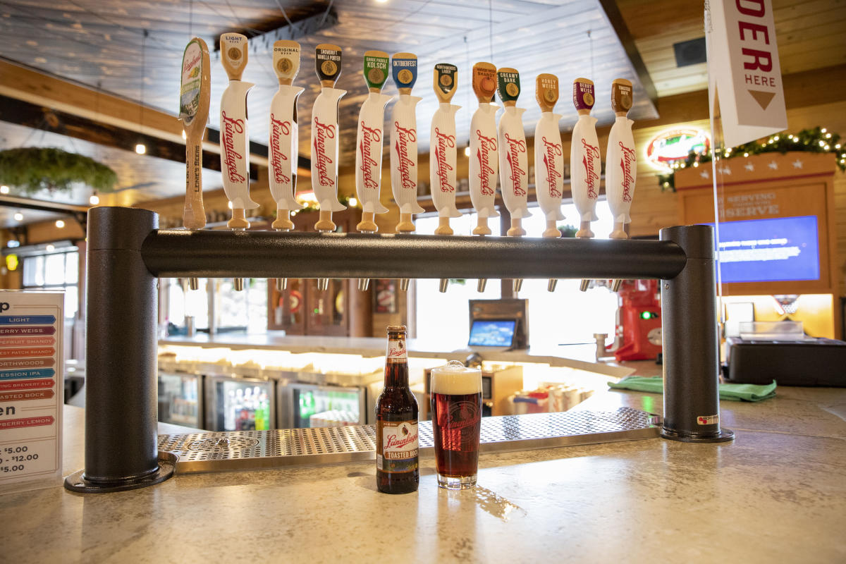Leinenkugel's brewery beers are on tap at Leinie Lodge in Eau Claire, WI.