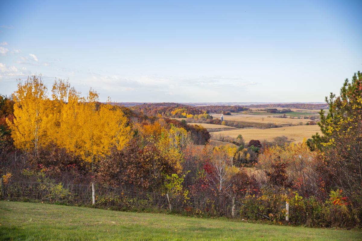 Buena Vista Scenic Overlook in Osseo in the fall