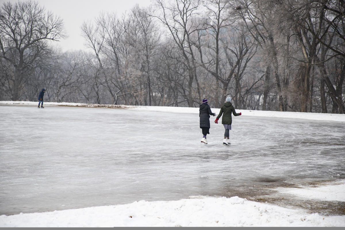 People skating outside at Boyd Park