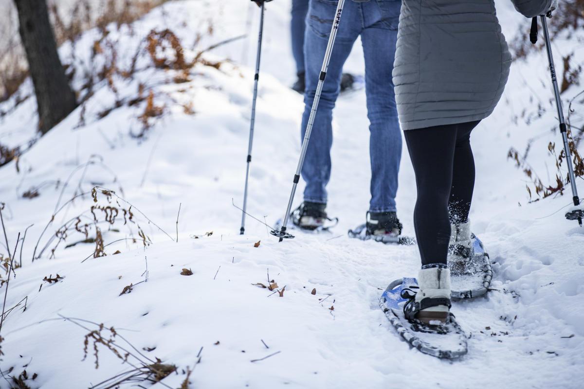 Snowshoeing at Pinehurst Park