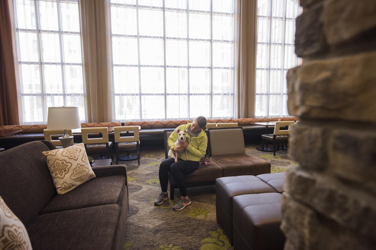 Staybridge Suites interior in Altoona, Wisconsin
