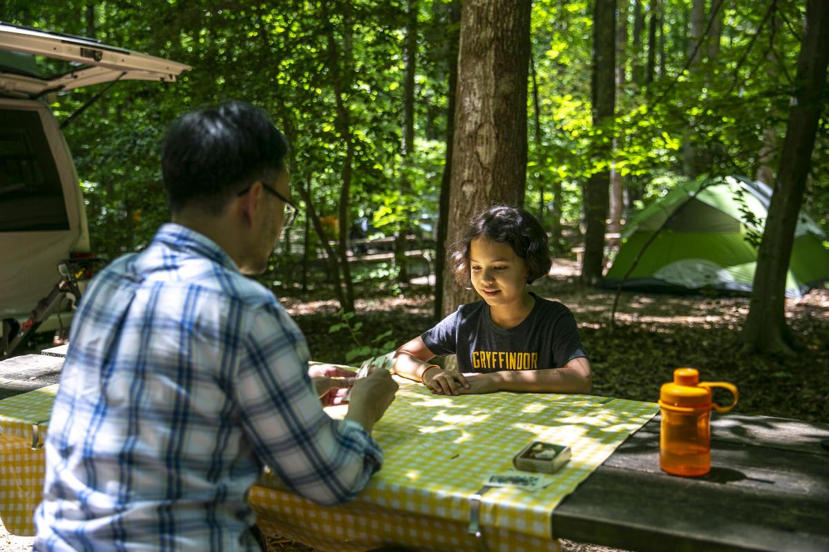 Camping at Burke Lake Park
