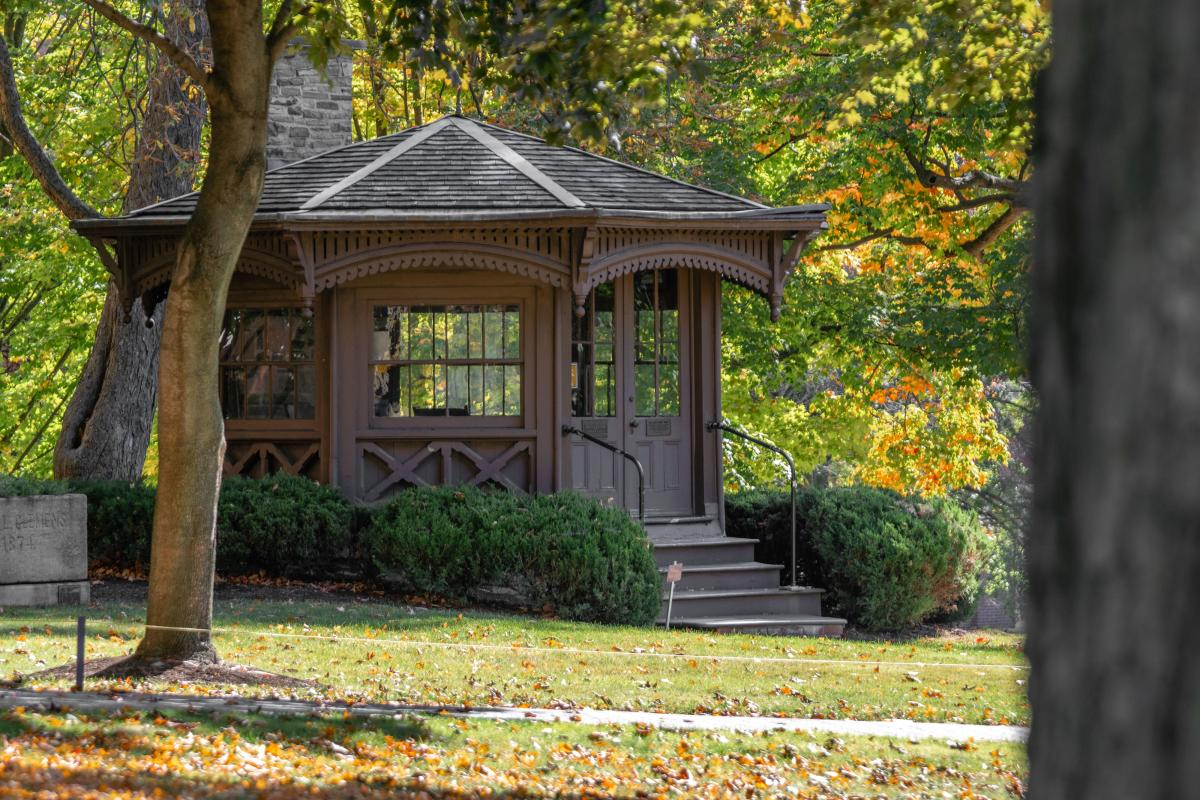 Mark Twain's study at Elmira College in Finger Lakes New York