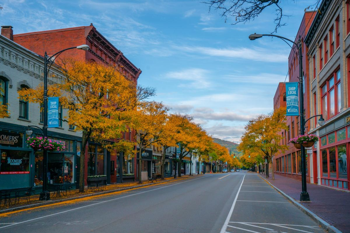 Market Street Historic Gaffer District in Corning New York