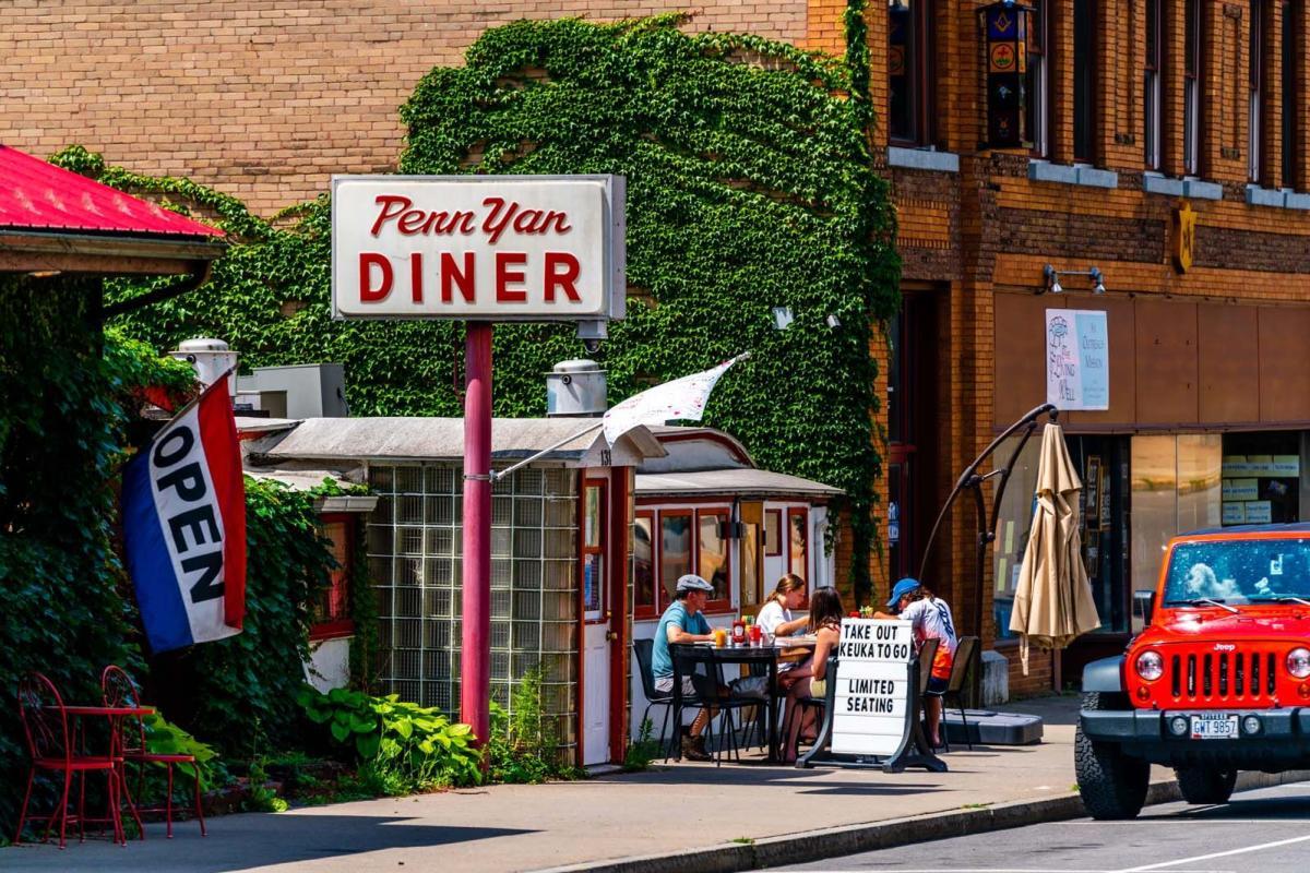 People enjoying a meal at Penn Yan Diner in the Village of Penn Yan