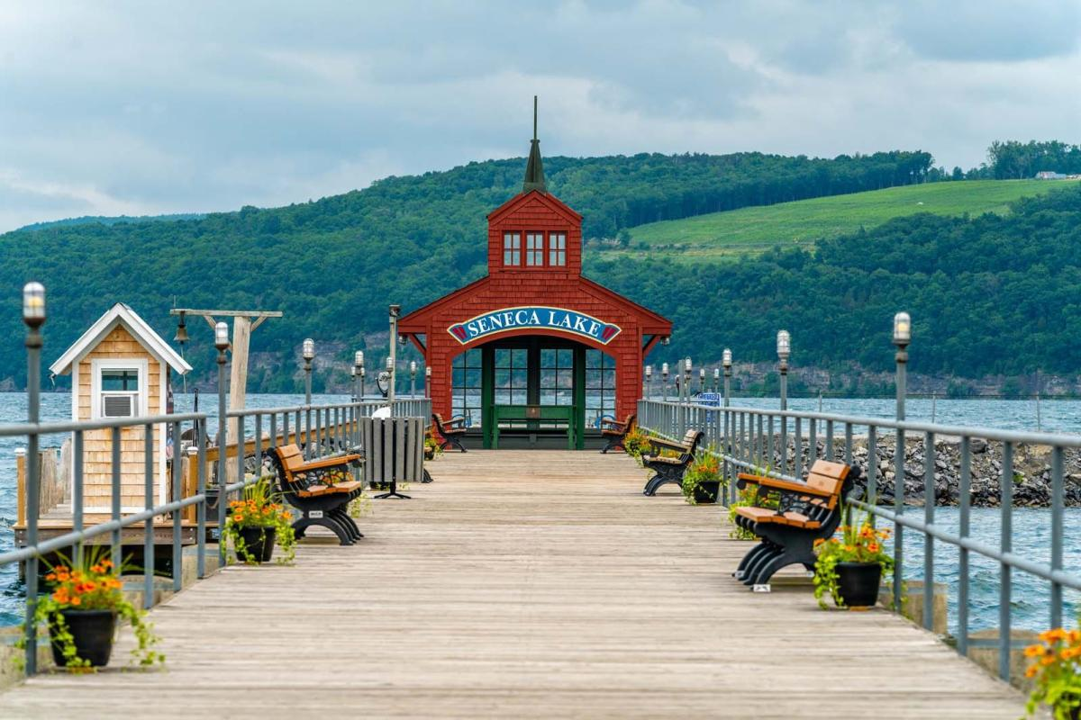 Seneca Lake Pier in Watkins Glen New York