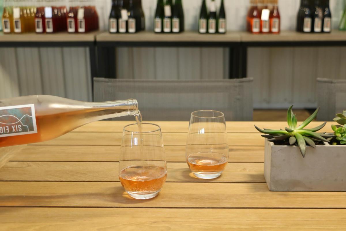 Rose wine tasting by Maiah Johnson Dunn
