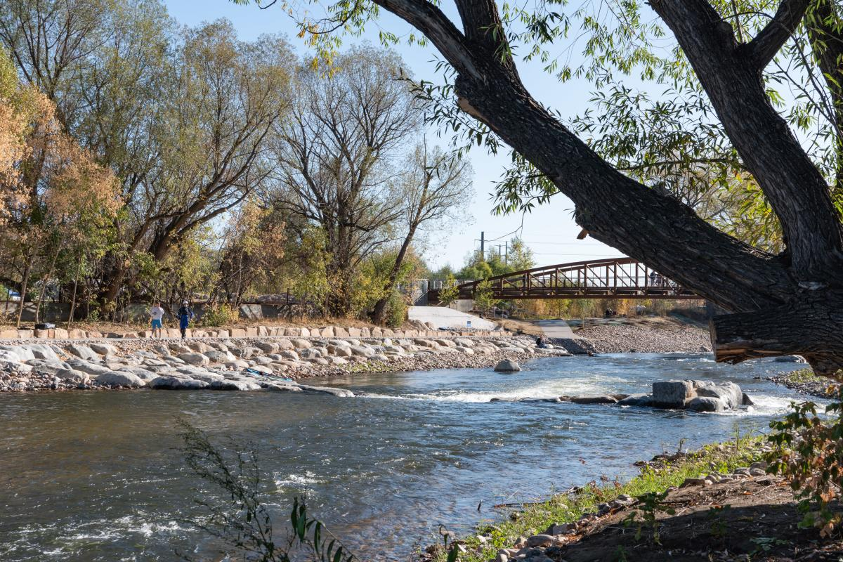 Poudre River Whitewater Park Fall