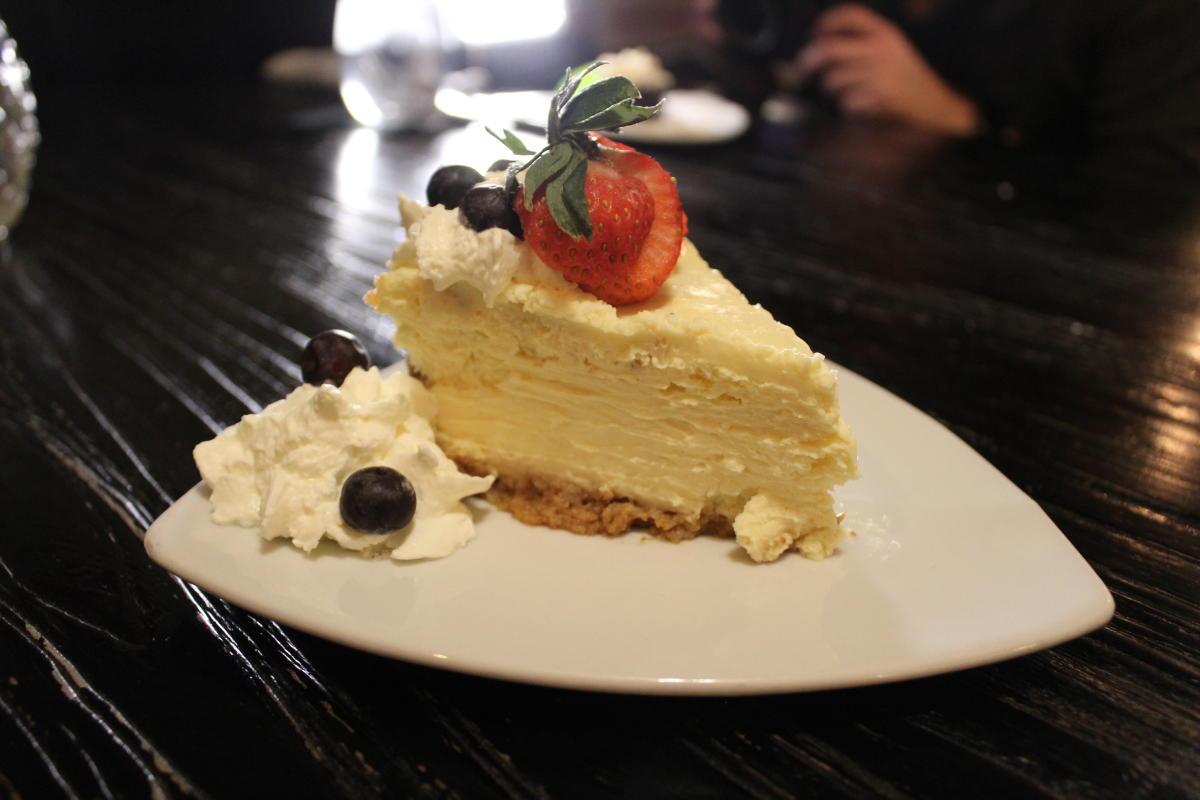 Slice of cheesecake at Cellar Door