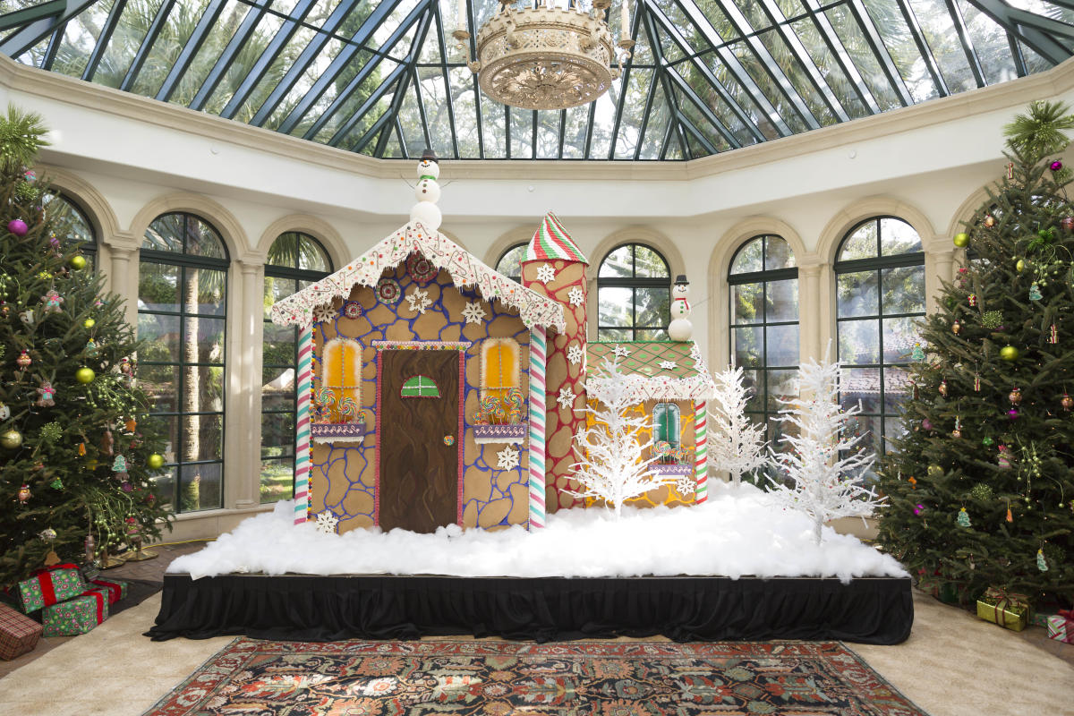 Sea Island's talented pastry chefs create a life-size gingerbread village at The Cloister during Christmastime each year.