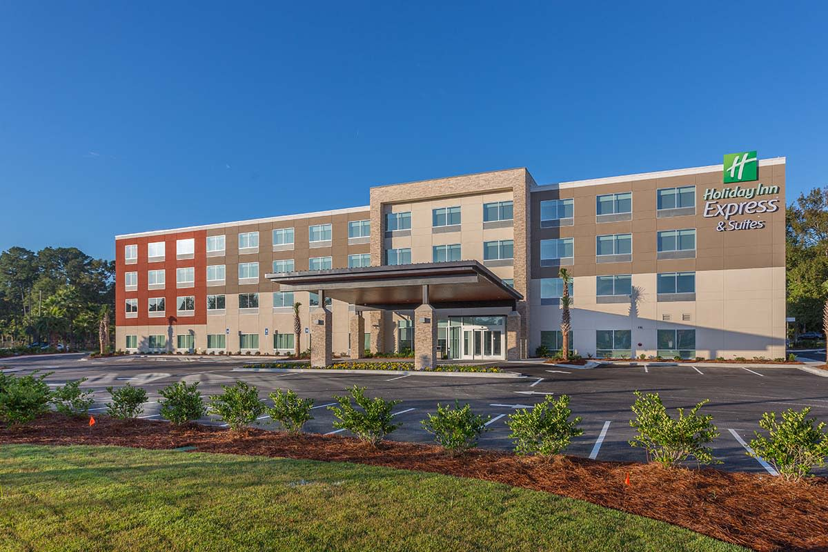The Holiday Inn Express is one of several new hotels in Brunswick, GA
