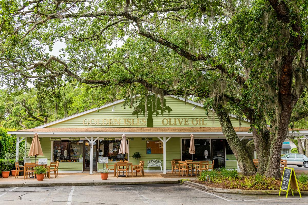 Redfern Village is a popular shopping and dining district centrally-located on St. Simons Island, GA