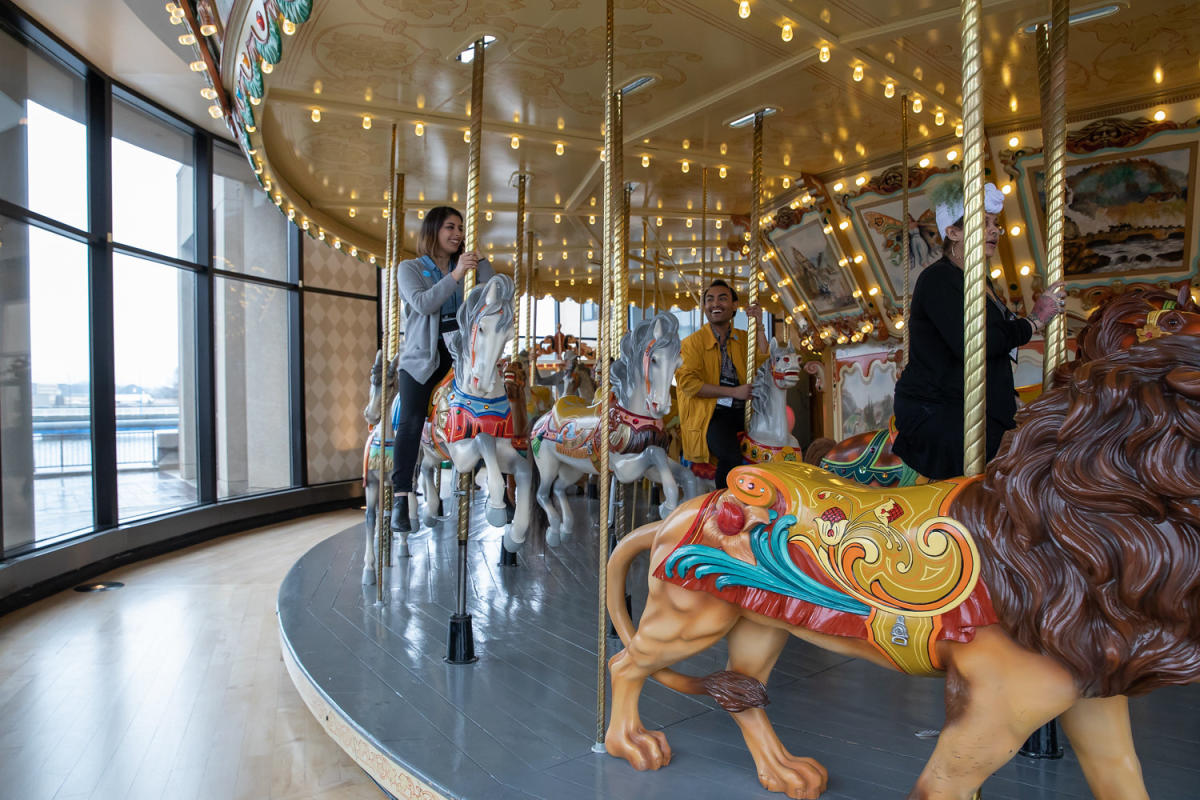 Fact: The Spillman Carousel consists of 44 hand-carved wooden horses.