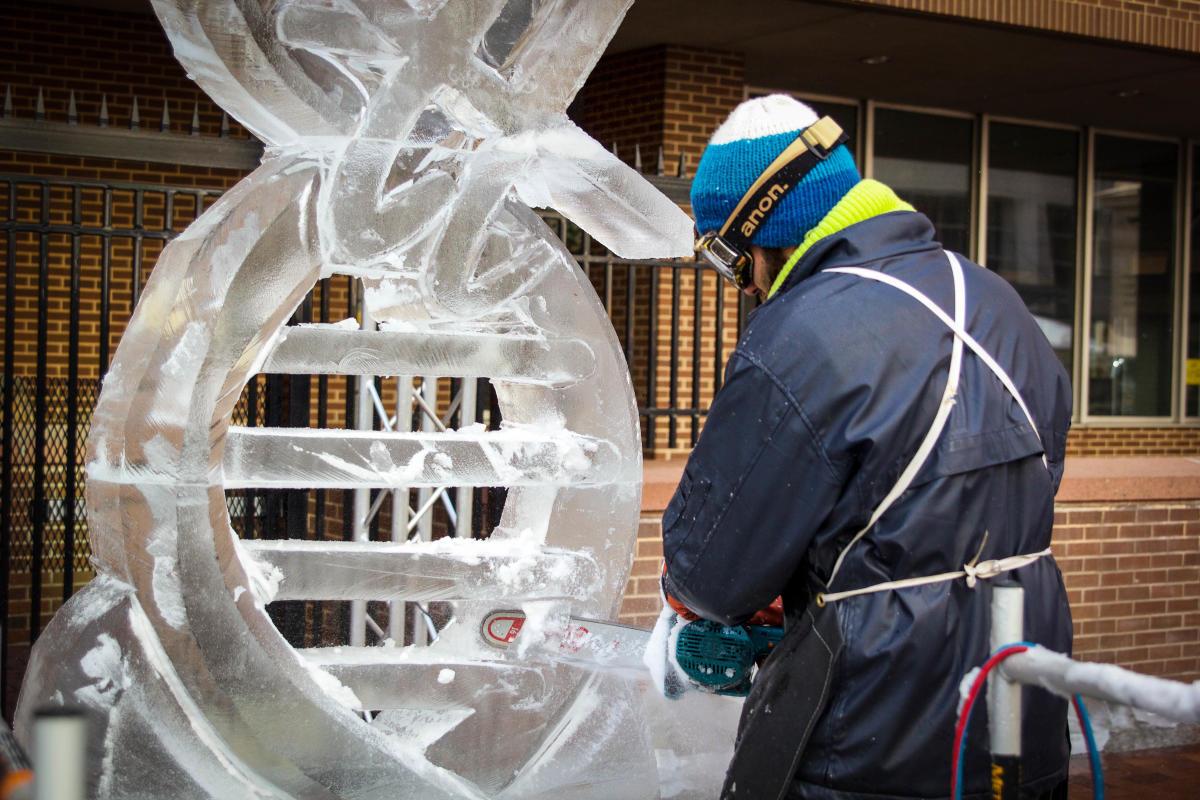 Ice Sculpting Demo 2020