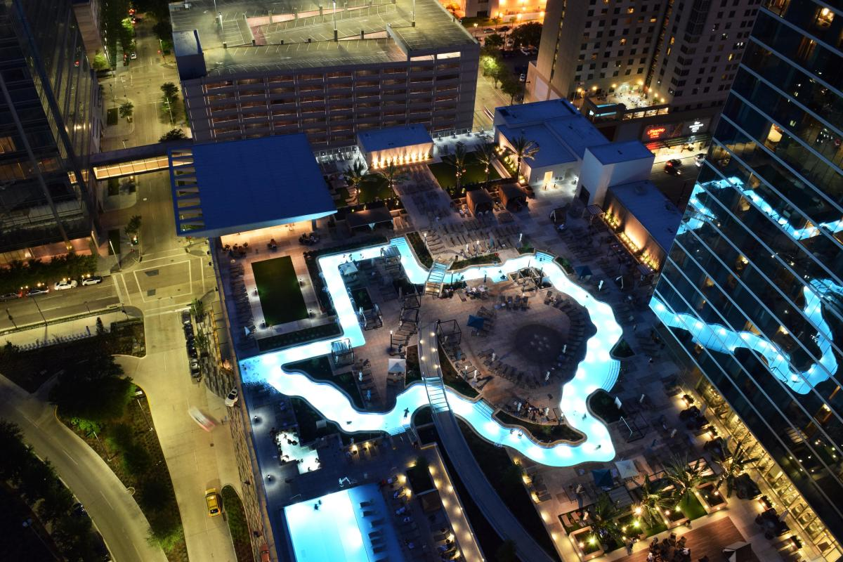 Marriott Marquis Pool Night