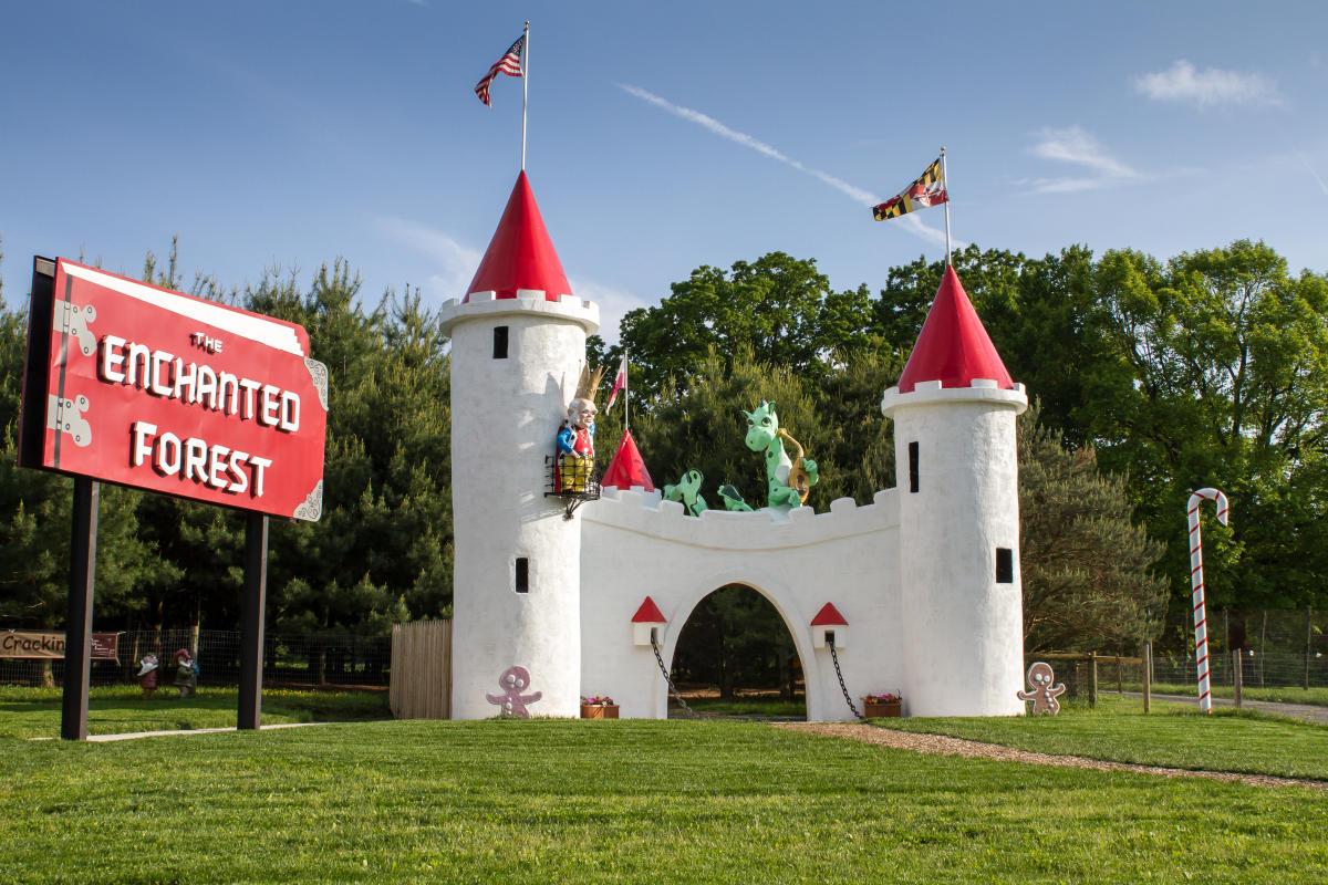 The Enchanted Forest Castle at Clark's Elioak Farm