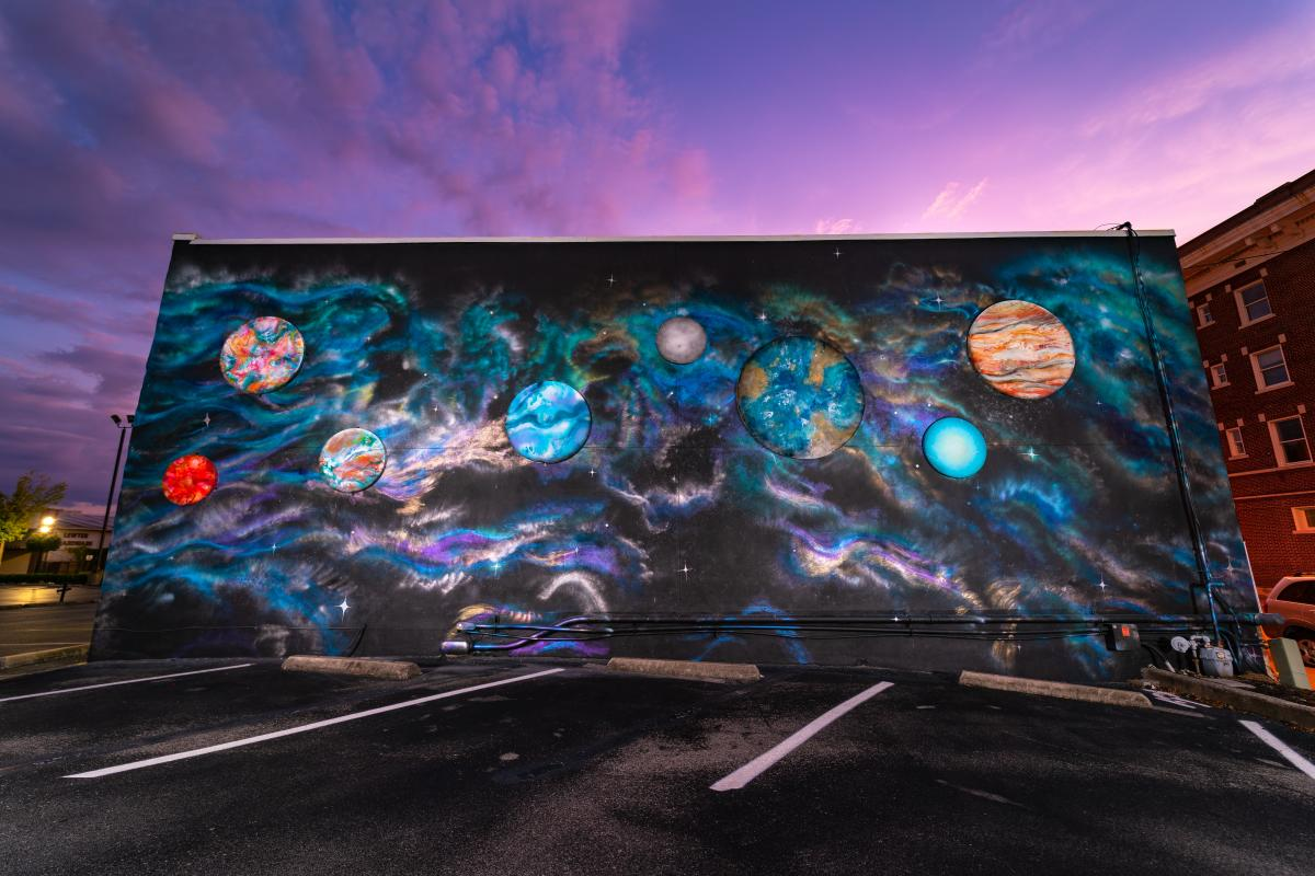Celestial Symphony / Galactica mural - Jessie Andrews