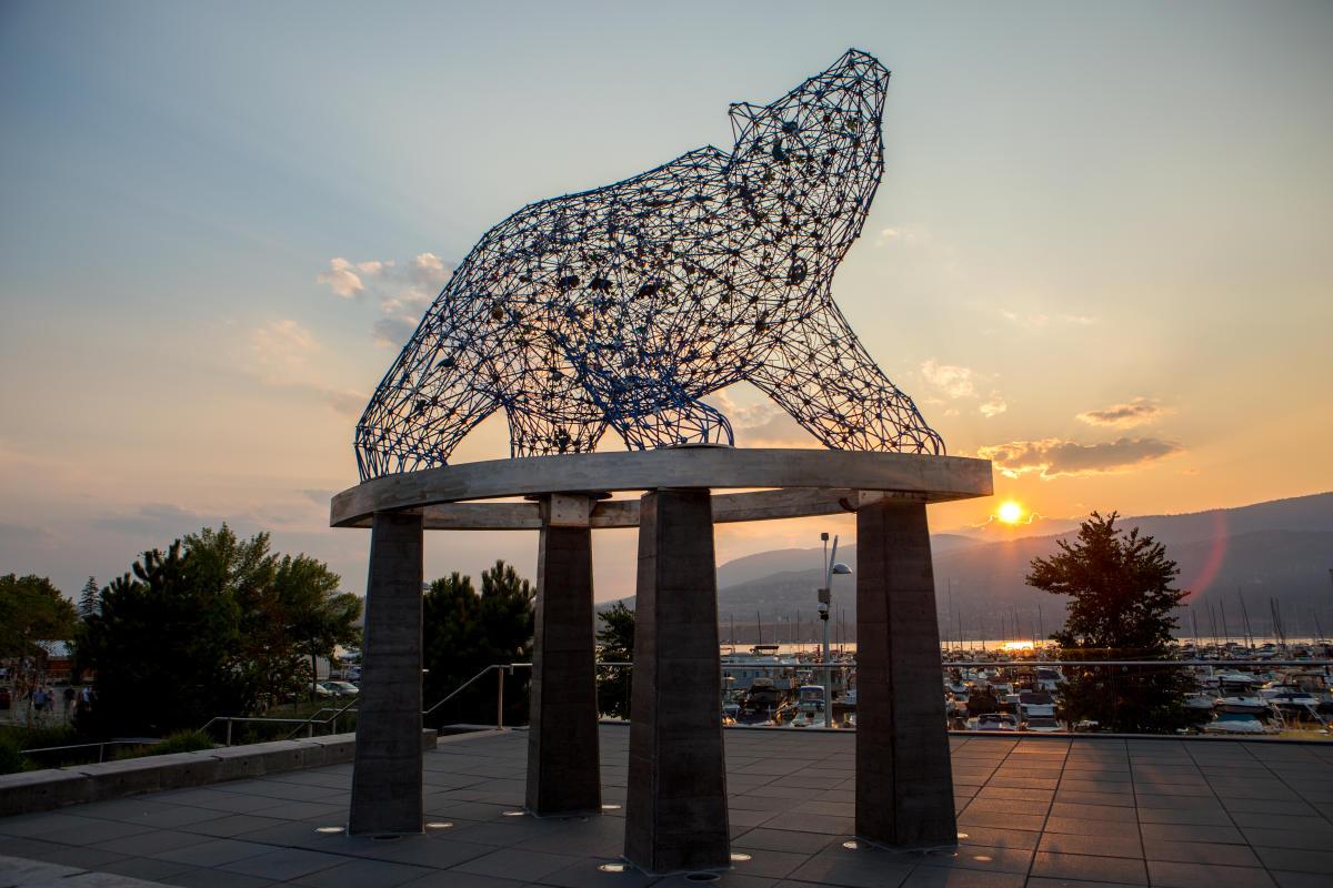 Bear Statue at Stuart Park