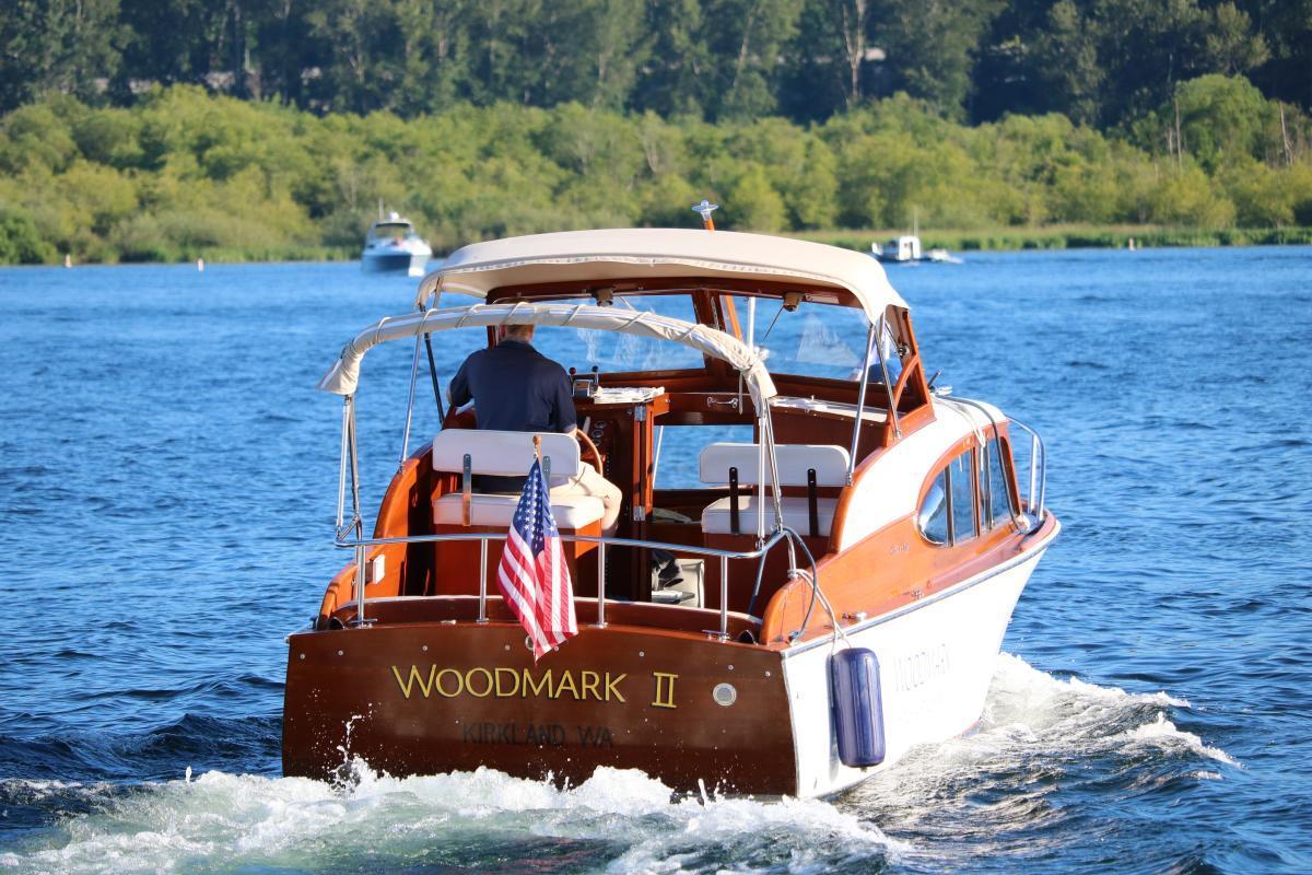 The Woodmark boat out on Lake Washington