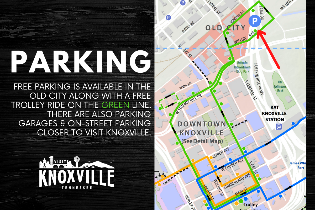 Parking & Trolley Info for Blue Plate Special