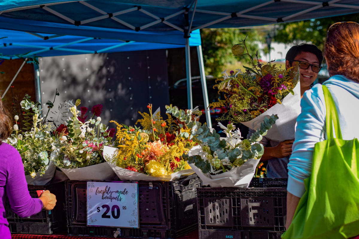 Davidson Farmer's Market Flower Vendor