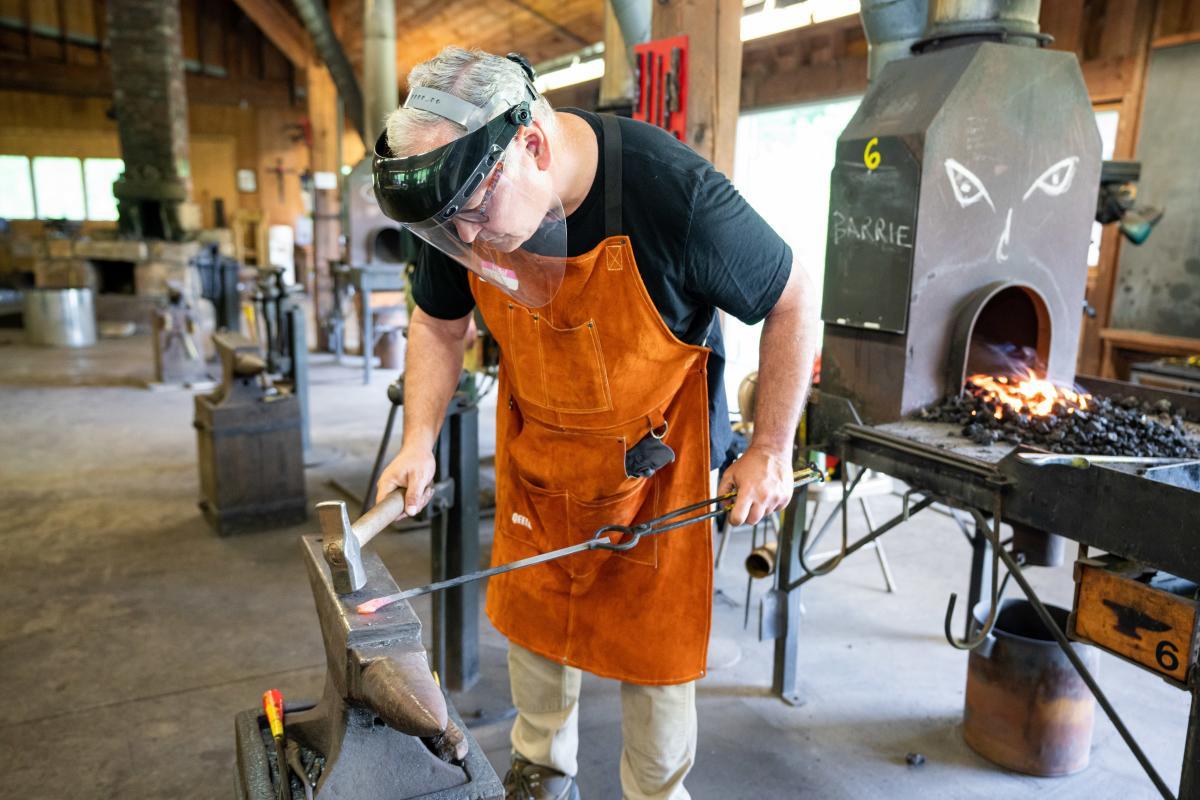 Blacksmithing at Touchstone