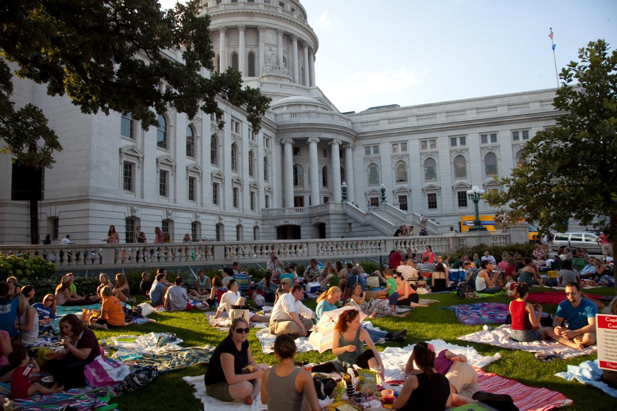 Concerts on the Square: King Street Corner of the Capitol Square, Madison