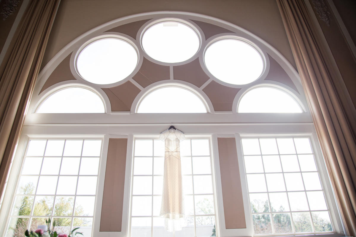 Windows and Arch of the Magnolia Ballroom in Milledgeville, GA