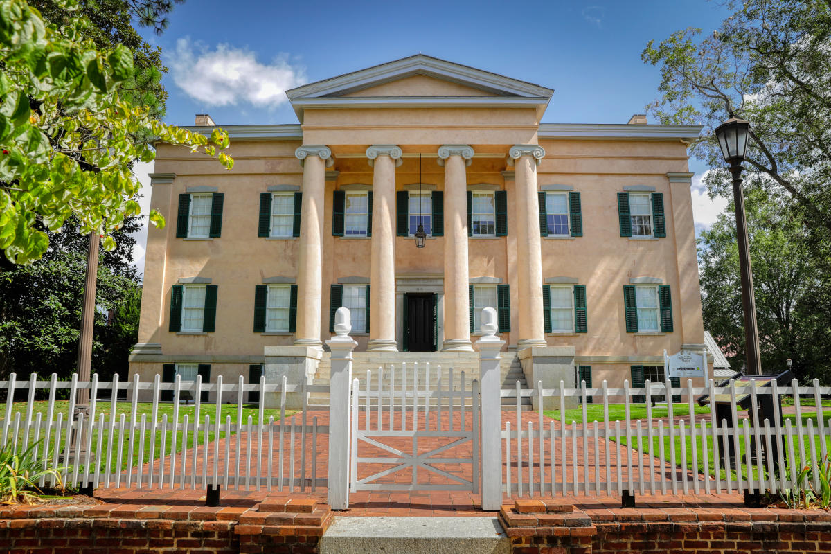 Exterior view of the Georgia's Old Governor's Mansion