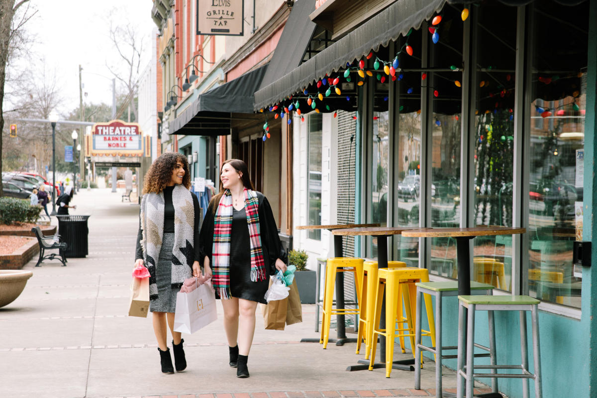 Christmas shopping downtown Milledgeville