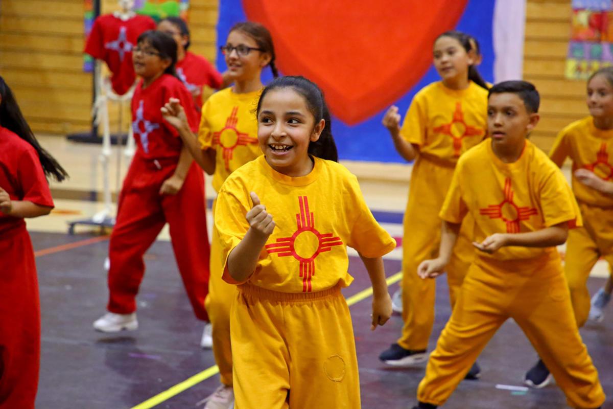 Young dancers perform at Española Valley High School