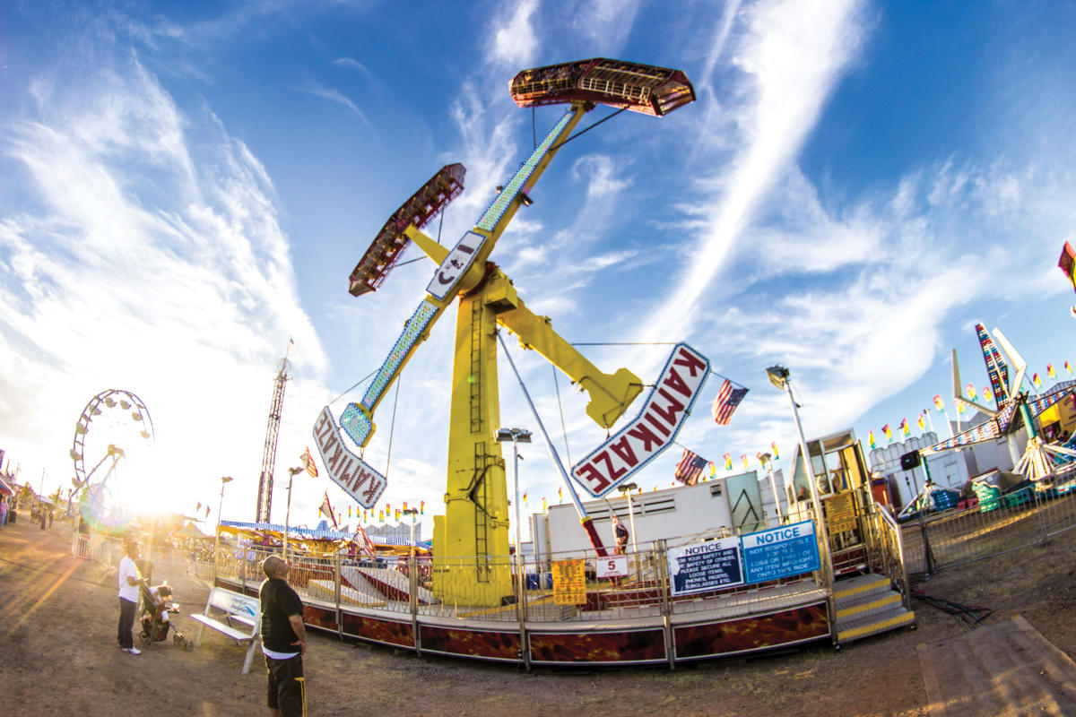 Daredevil carnival rides await thrill-seekers at the Lea County Fair