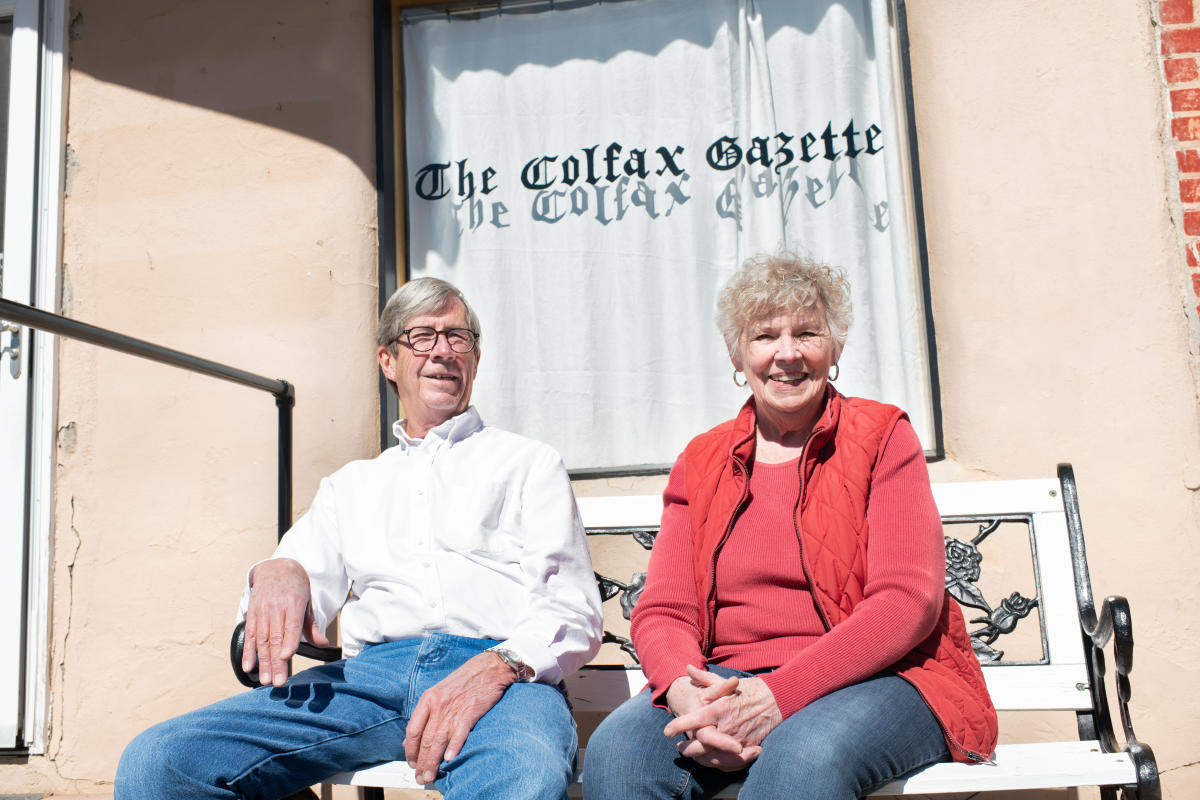Roger and Sharon Smith, owners of The Colfax Gazette