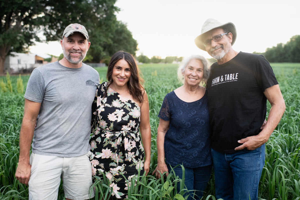 Farm & Table's Cherie Montoya (second from left), with her partner and parents