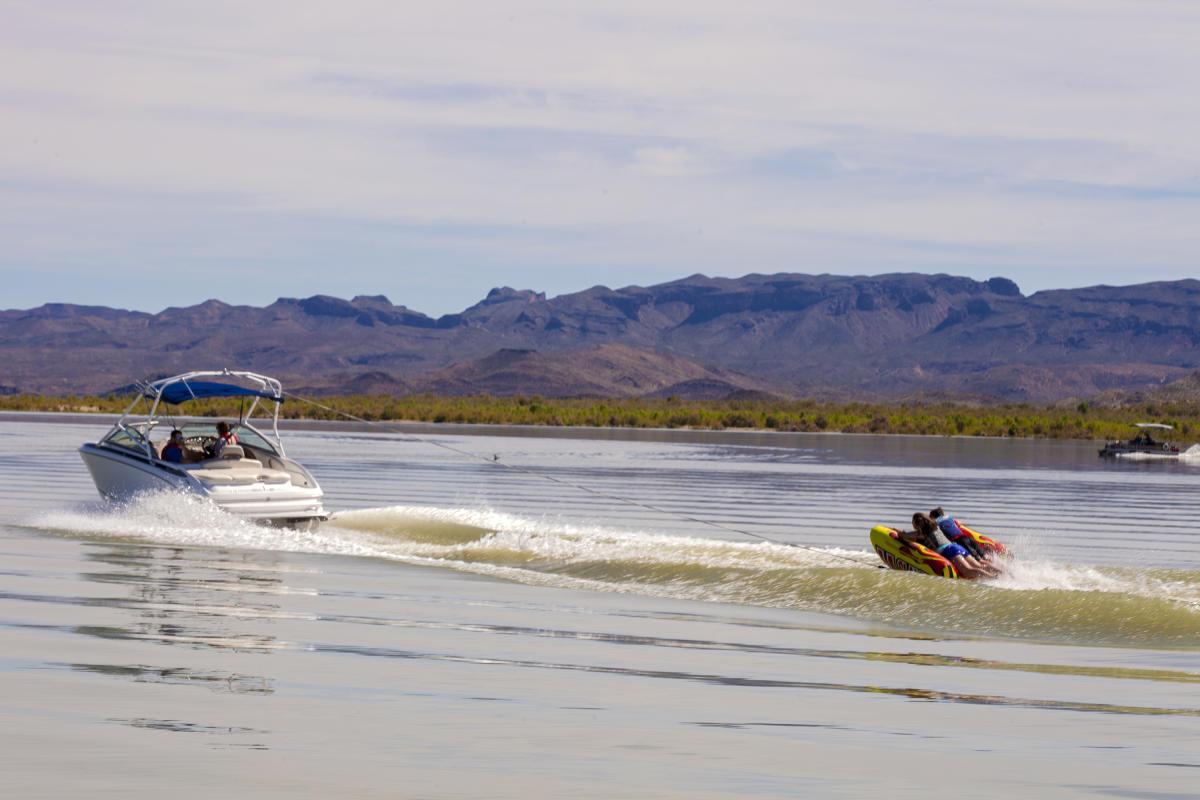 Boat on Elephant Butte Lake