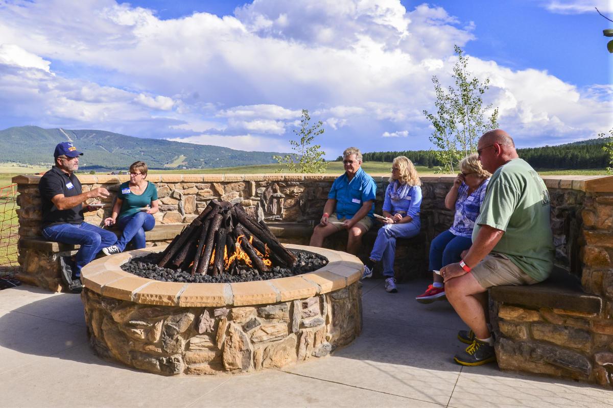 Fire at Angel Fire RV Resort