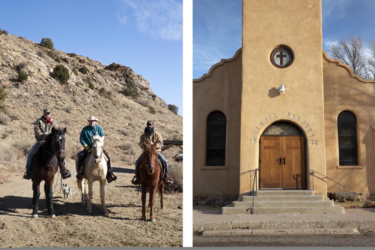 Broken Saddle Riding Company and Historic Church in Cerrillos